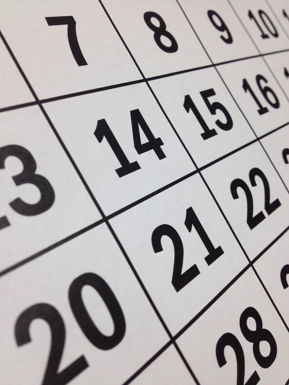 appointment black calendar countdown