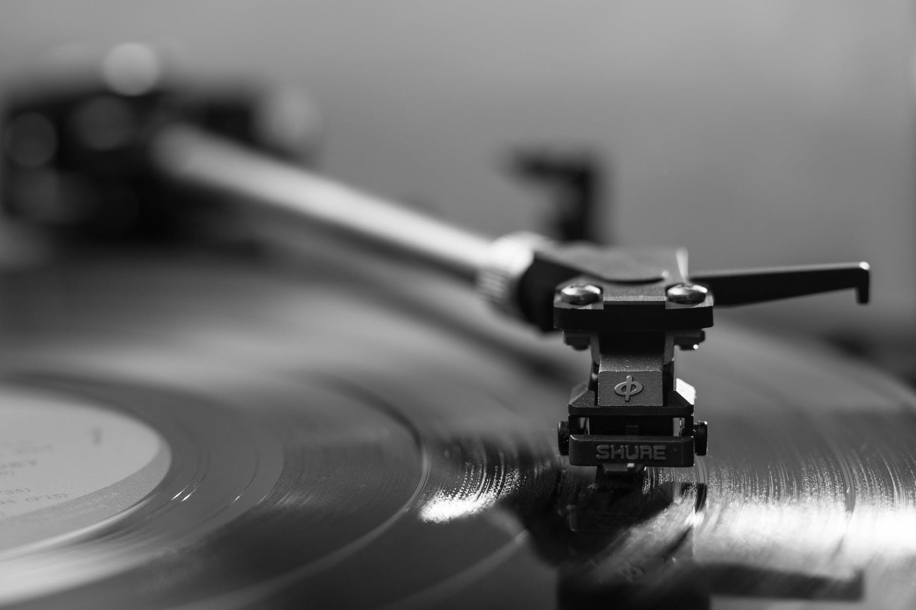 black vinyl player