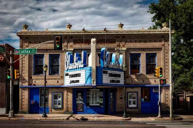 architecture bluebird theatre building cinema