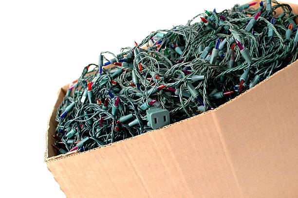"""""""Box of old, tangled Christmas lights."""""""
