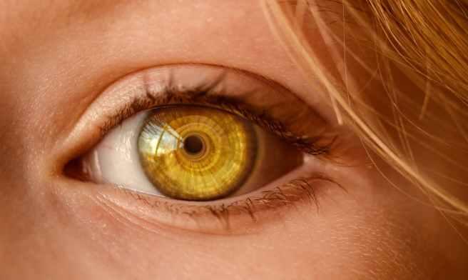 close up of human eye