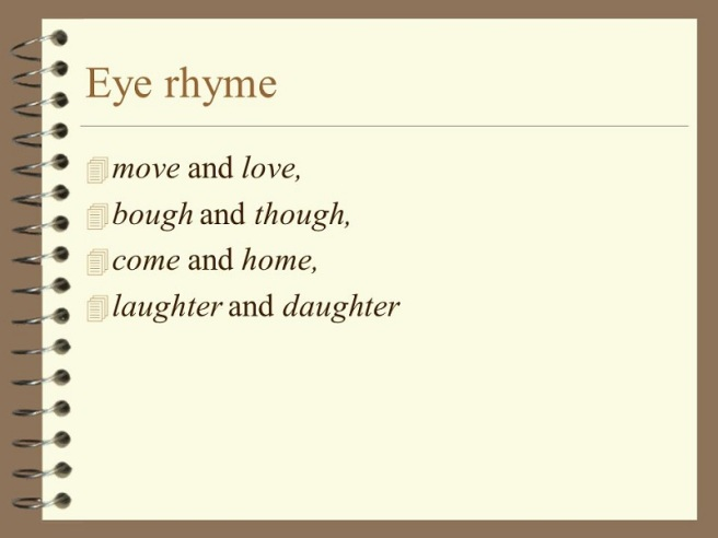 eye rhymes