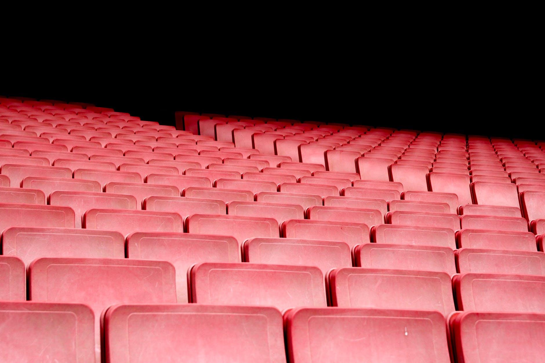 audience auditorium bleachers chairs