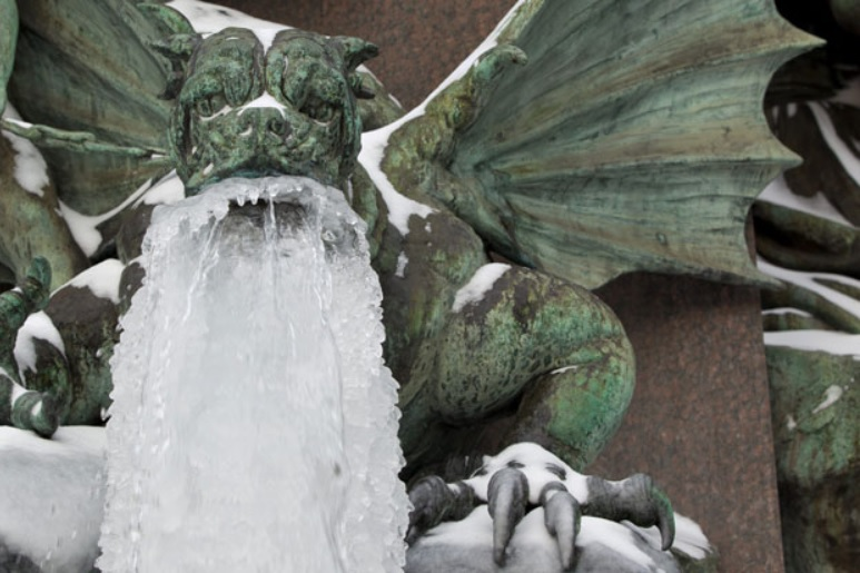gargoyle with a cold
