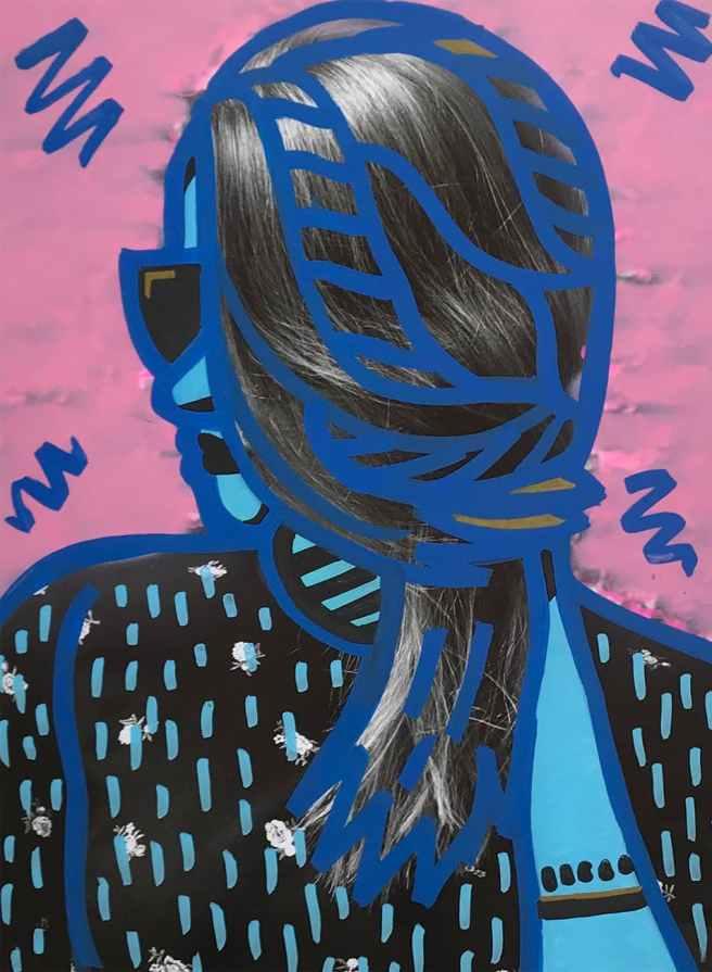 woman s black hair