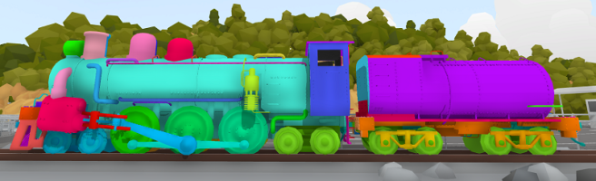 rainbow livery