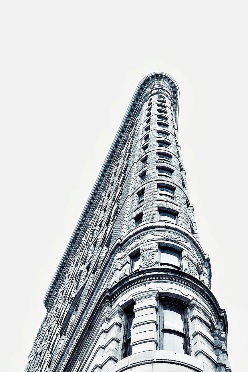 low angle photo of flatiron building