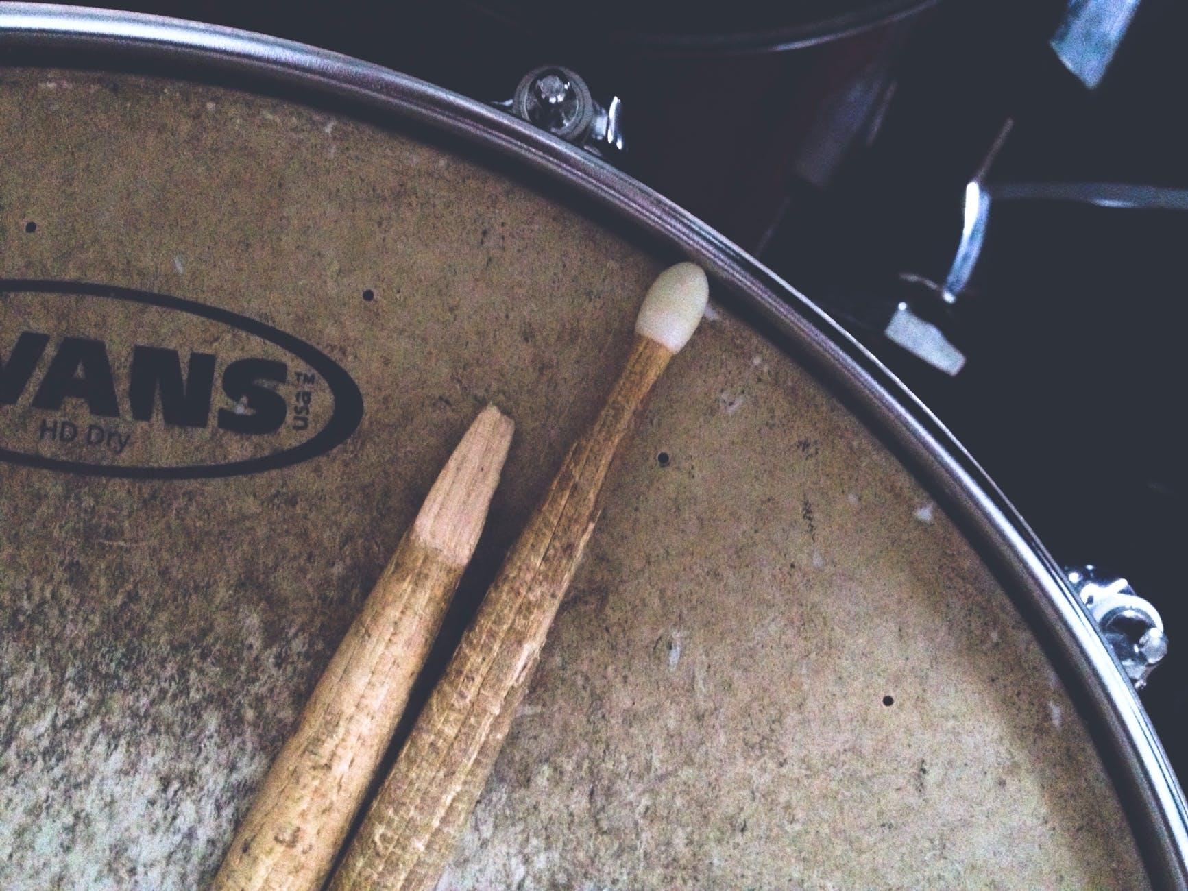 broken drumstick close up dark dirty